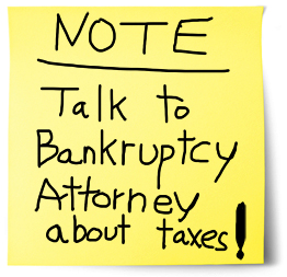 Discharge Tax IRS Taxes in Bankruptcy with Bankruptcy Attorney